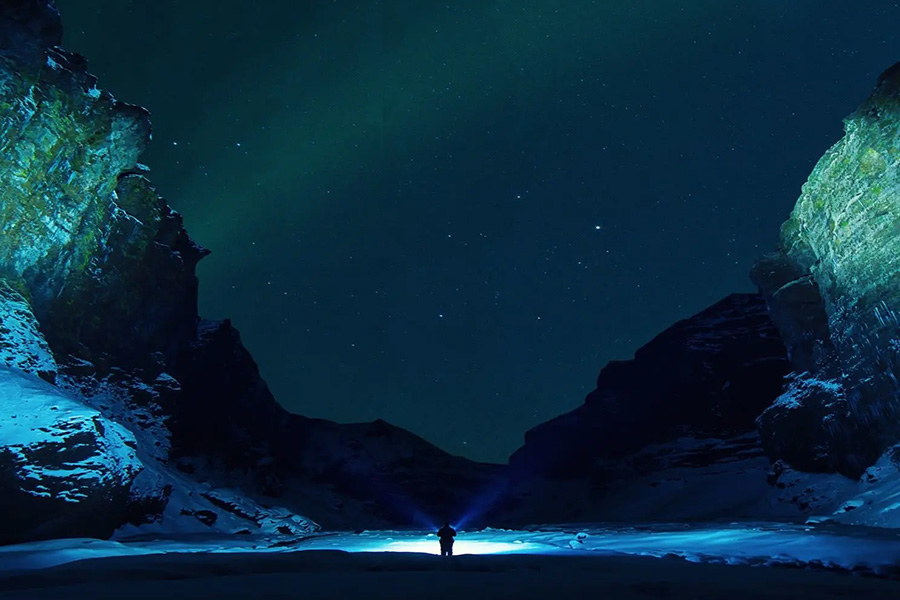 open desert at night