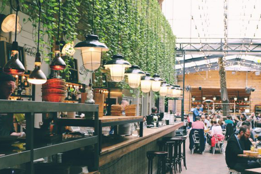 indoor restaurant and bar