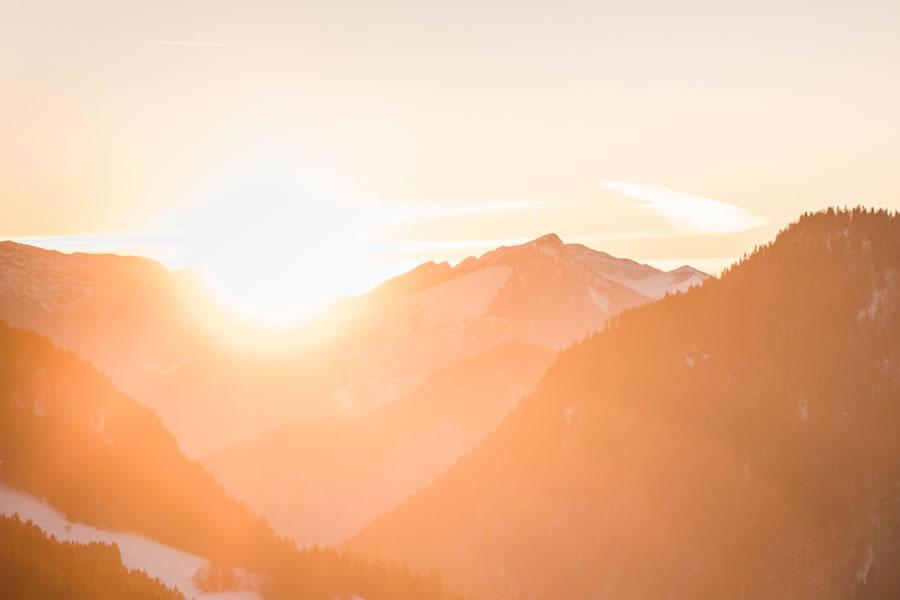 bright mountain ridge