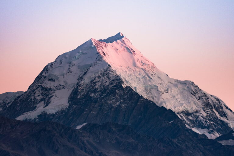 rugged mountain with sunset