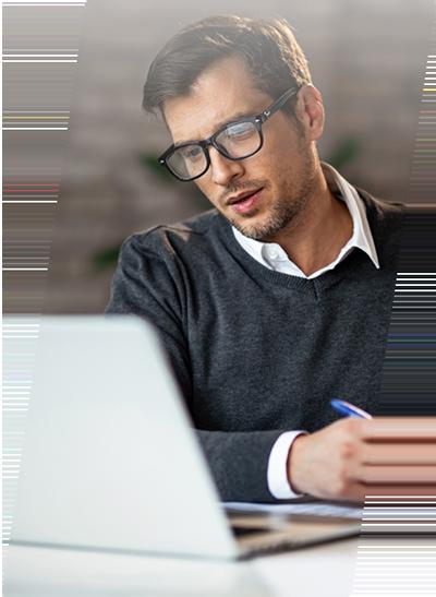 portfolio manager reviewing accounts