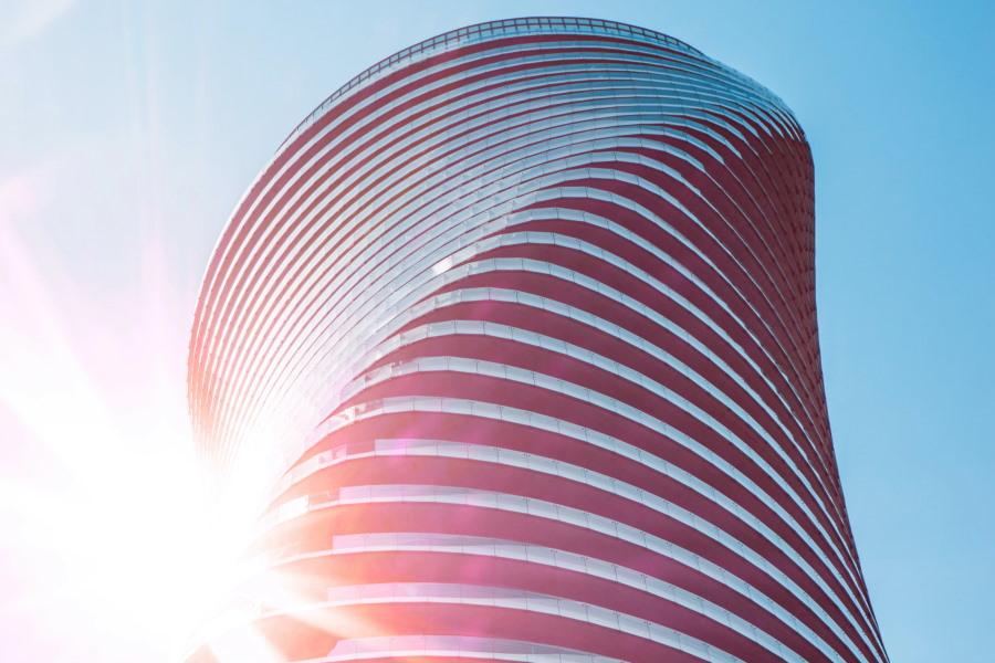 modern circular building